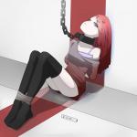 ・奴隷市場・首輪太ー鎖リード固定吊上