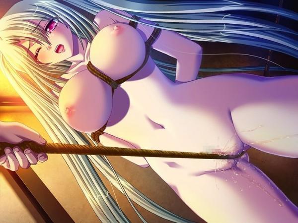 調教・・裸・股縄ー引っ張りー食い込み
