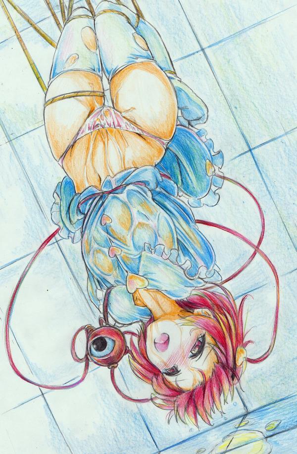 ・・水濡スケスケ、ニーソー破れ・後ろ手ー吊るしー逆さ吊り、おもらしー水たまりー浴びる