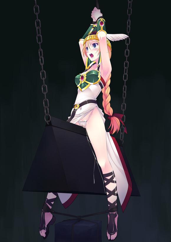 調教・巫女・・緊縛、三角木馬、拘束ー上手ばんざいー半吊るし
